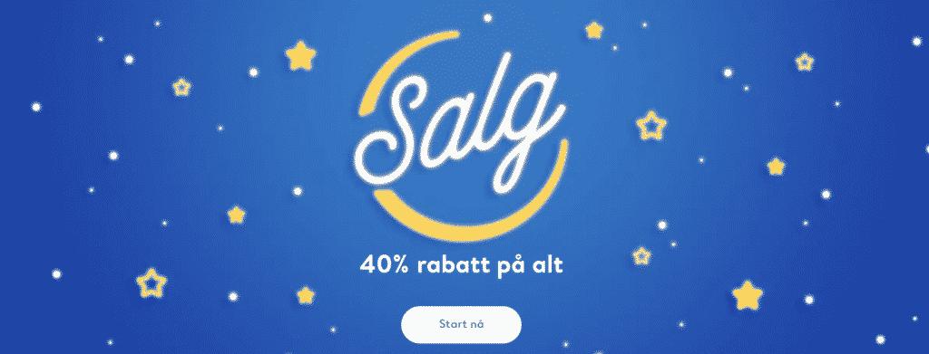 SALG - 40% RABATT på alle produkter