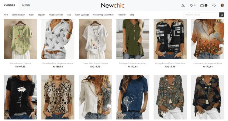 newchic klær og mote